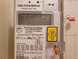 Elektronische Energiezähler (Eintarif)